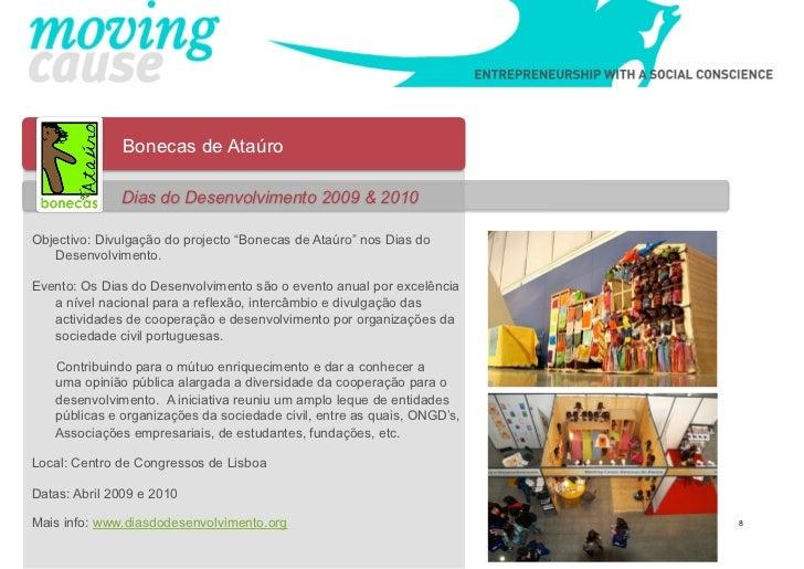 """Bonecas de Ataúro              Dias do Desenvolvimento 2009 & 2010Objectivo: Divulgação do projecto """"Bonecas de Ataúro"""" no..."""