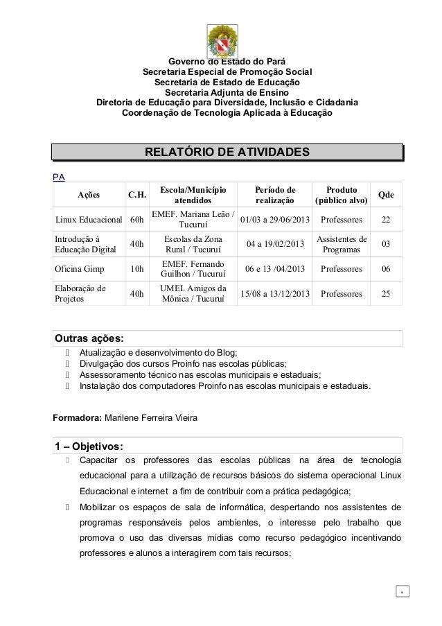 Governo do Estado do Pará Secretaria Especial de Promoção Social Secretaria de Estado de Educação Secretaria Adjunta de En...
