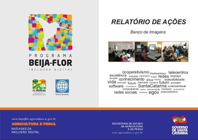 RELATÓRIO DE AÇÕES Banco de Imagens  cooperativismo #softwarelivre telecentros  excelência vocação  inclusão capacitação s...