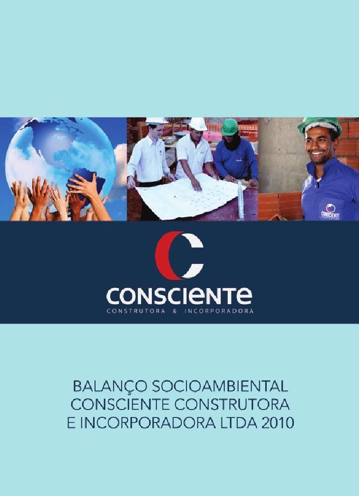 RELATÓRIO CONSCIENTE 2010 - 1