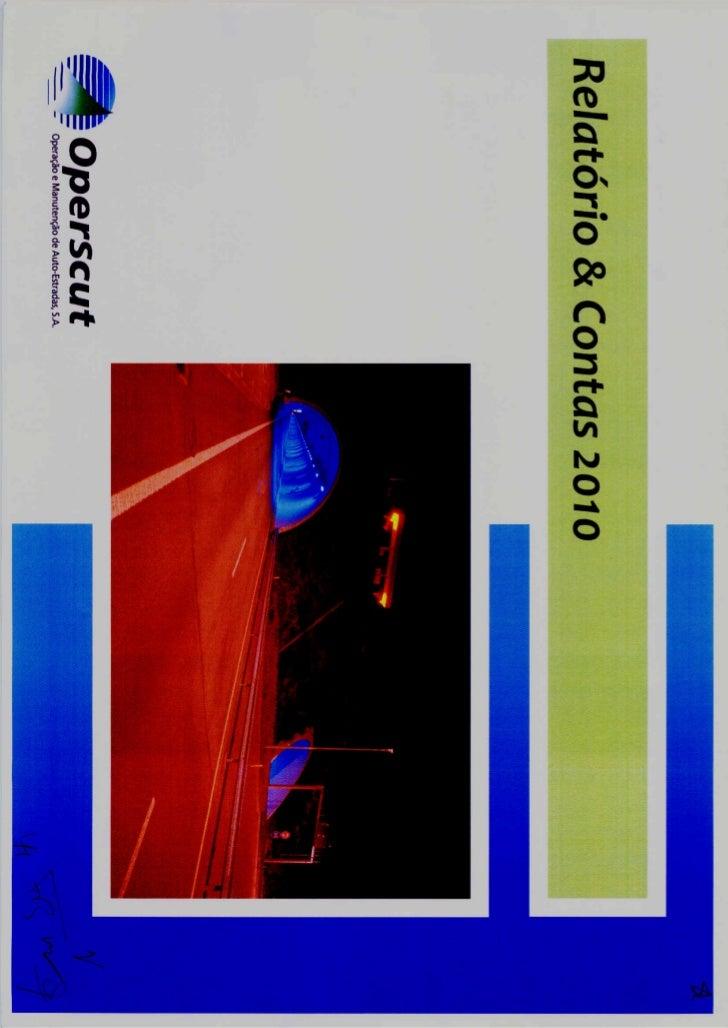 Relatorio contas 2010