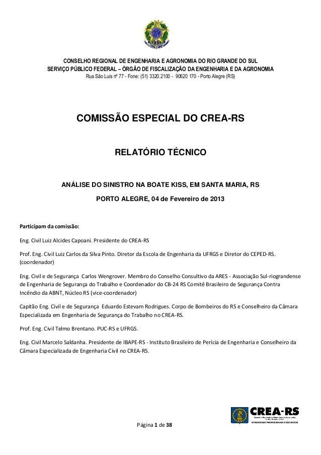 CONSELHO REGIONAL DE ENGENHARIA E AGRONOMIA DO RIO GRANDE DO SUL           SERVIÇO PÚBLICO FEDERAL – ÓRGÃO DE FISCALIZAÇÃO...