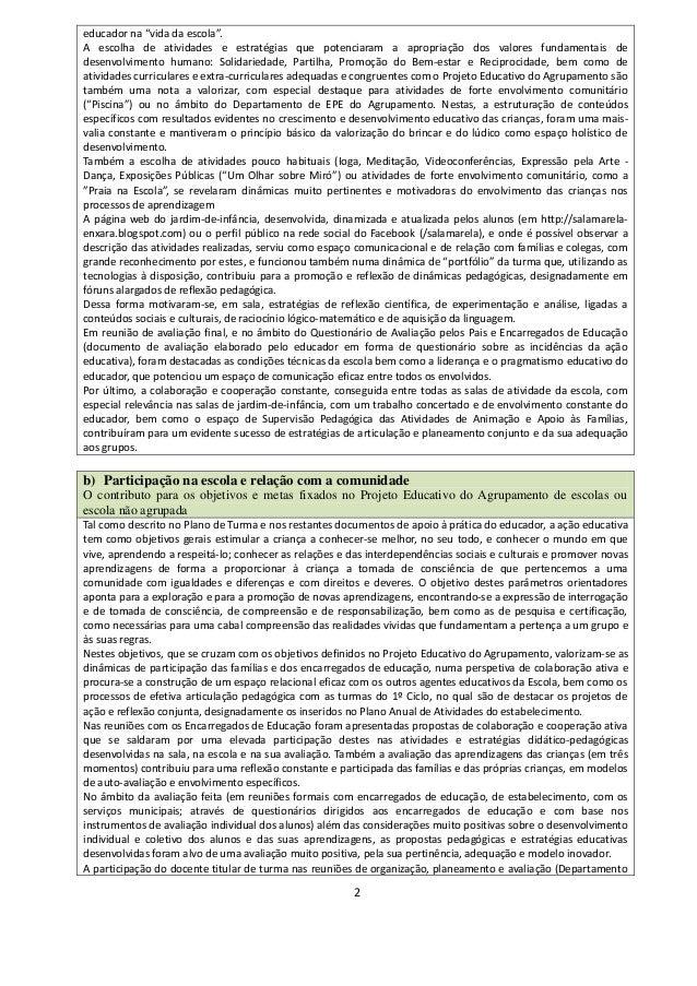 Relatorio De Auto Avalia O Docente 2015