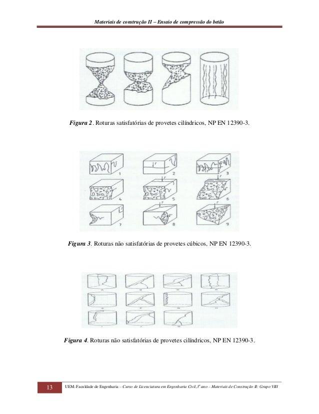 Relatorio de ensaio de compressao do betao