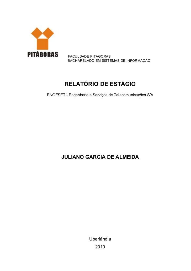 Relatorio de estagio - Juliano Garcia