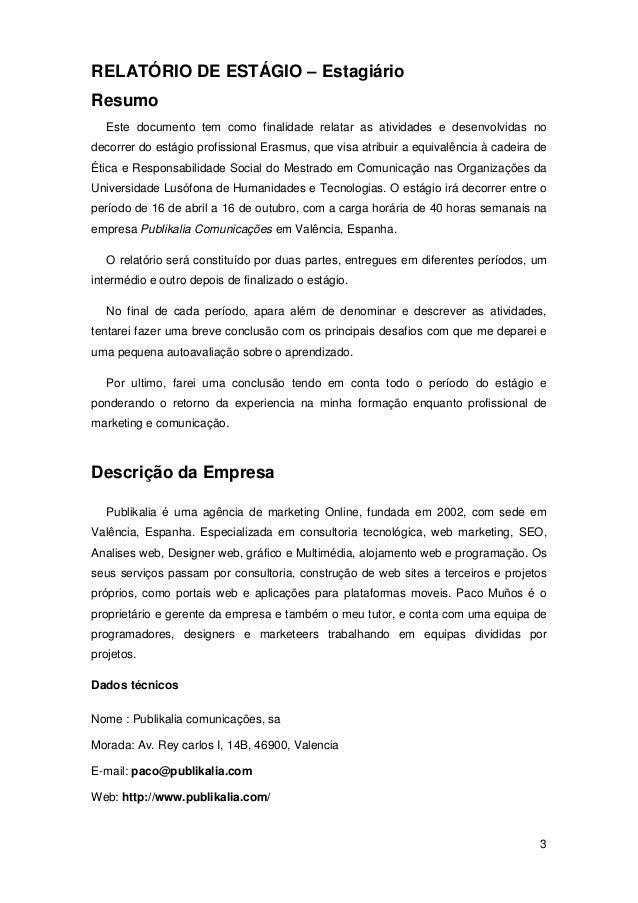 Exemplo de um relatorio de estagio