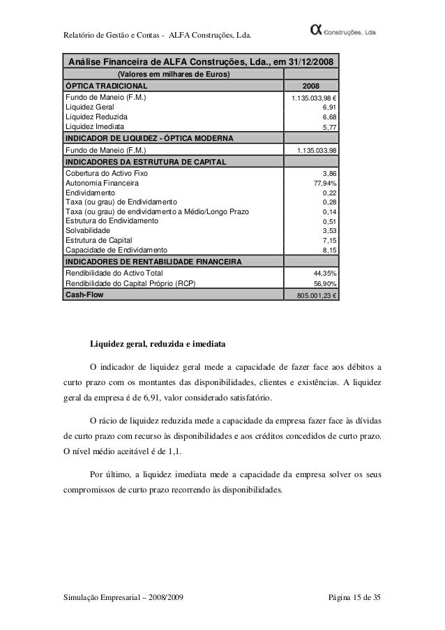 relatorio final alfa construã§ãµes, lda910 Relatorio Empresarial Como Fazer #7
