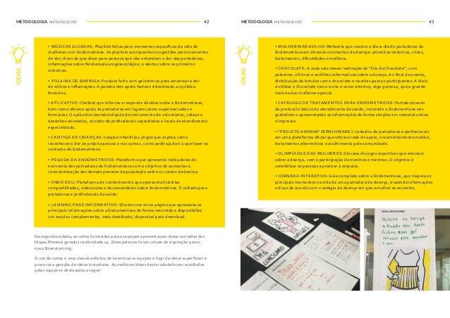 METODOLOGIA METHODOLOGY METODOLOGIA METHODOLOGY44 45WORKSHOP DE DESIGN THINKING SOBRE ENDOMETRIOSE DESIGN THINKING WORKSHO...