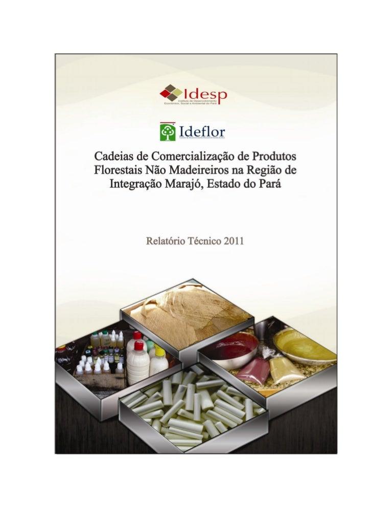 Cadeias de Comercialização de Produtos Florestais NãoMadeireiros na Região de Integração Marajó, Estado do                ...