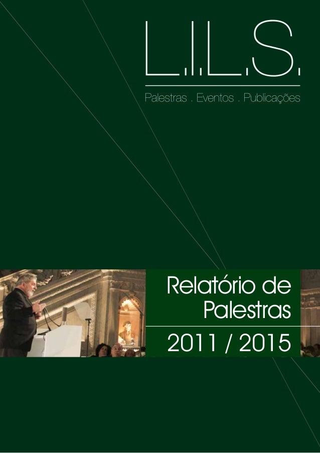 Palestras realizadas pelo Lula - Relatoriopalestraslils20160323