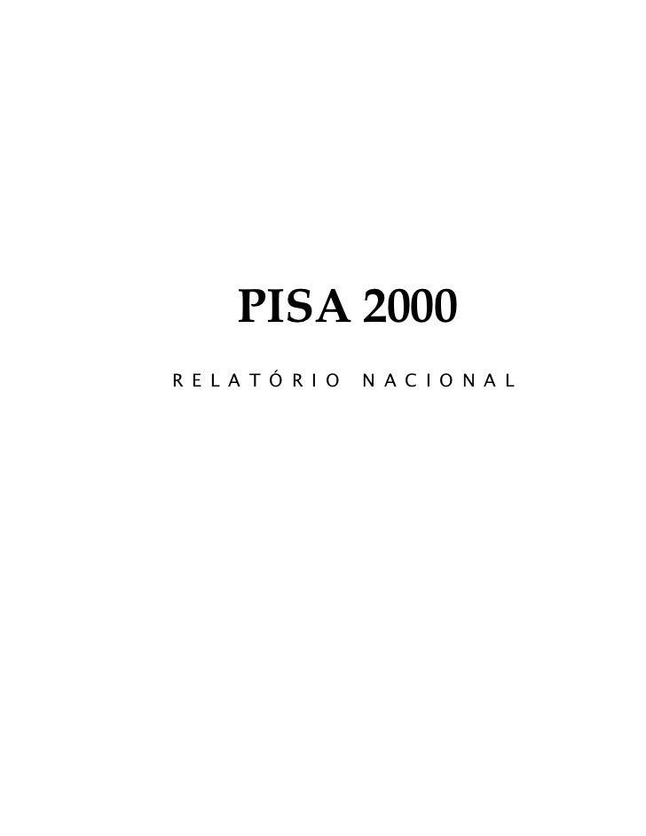 PISA 2000R E L A T Ó R I O   N A C I O N A L