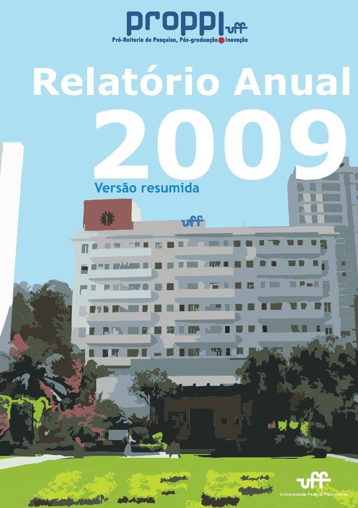 Relatório Anual    2009              Universidade Federal Fluminense
