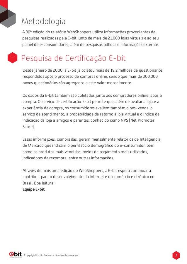 a7326553f23f8 Relatorio Webshoppers - 30ª Edição