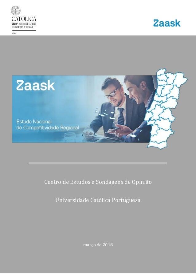 Centro de Estudos e Sondagens de Opinião – Universidade Católica Portuguesa [1] Centro de Estudos e Sondagens de Opinião U...