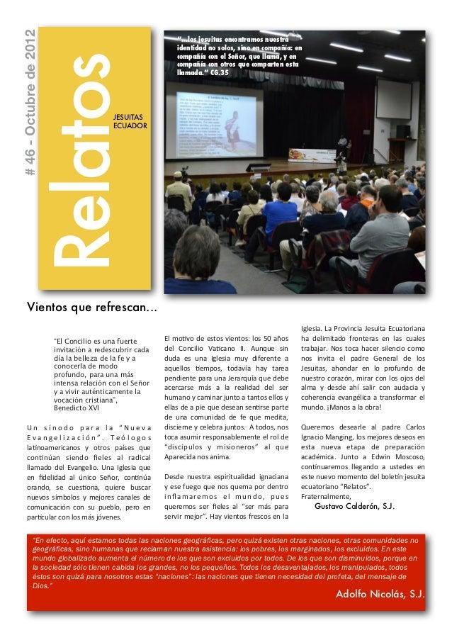 """# 46 - Octubre de 2012                                                                            """"...los jesuitas encontr..."""