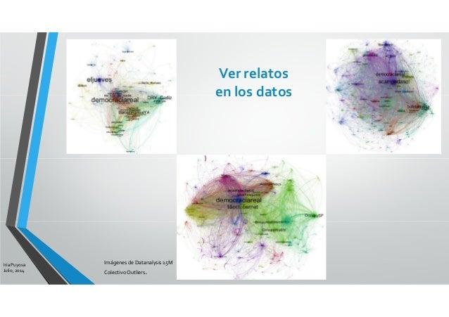 Iria Puyosa Julio, 2014 Ver relatos en los datos Imágenes de Datanalysis 15M ColectivoOutliers.