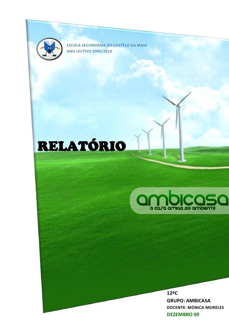 ESCOLA SECUNDÁRIA DO CASTÊLO DA MAIA   ANO LECTIVO 2009/2010     RELATÓRIO                                              12...