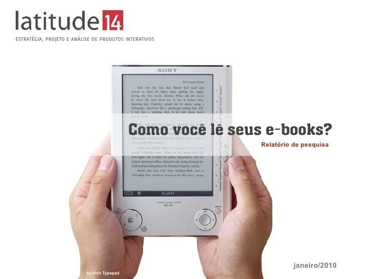 Relatório - Como você lê seus e-books?