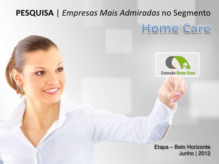 PESQUISA | Empresas Mais Admiradas no Segmento                                Etapa – Belo Horizonte                      ...