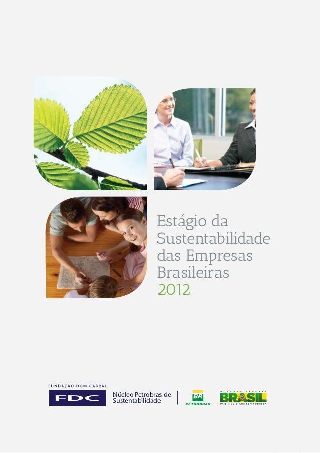 Estágio da Sustentabilidade das Empresas Brasileiras 2012  Núcleo Petrobras de Sustentabilidade  Estágio da Sustentabilida...
