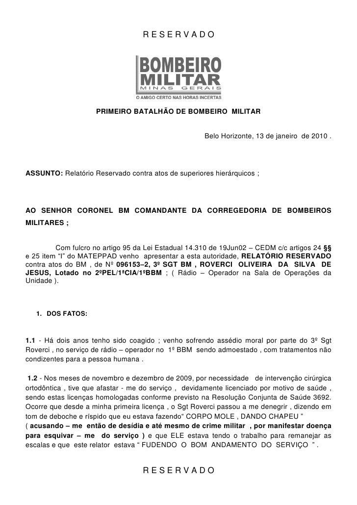 RESERVADO                          PRIMEIRO BATALHÃO DE BOMBEIRO MILITAR                                                  ...