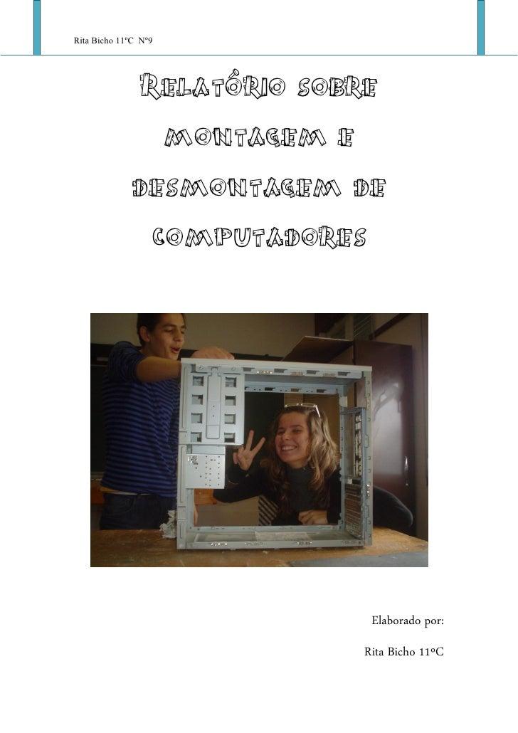 Rita Bicho 11ºC Nº9                Relatório sobre                montagem e              desmontagem de               com...