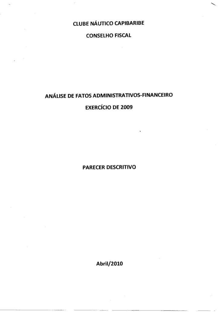 Relatório Conselho Fiscal Náutico