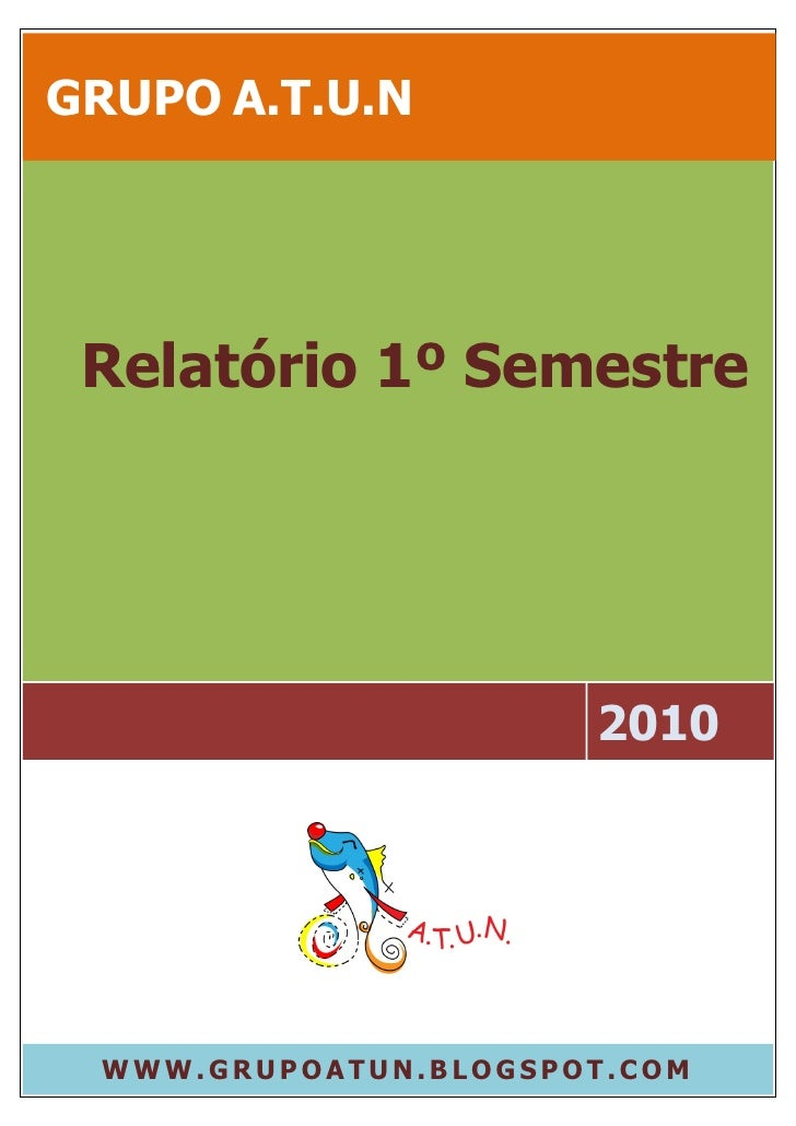 Relatório 1º semestre 2010   grupo a.t.u.n