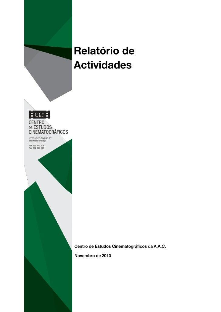 Relatório actividades  cec 2010