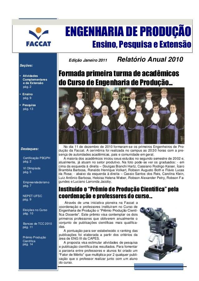 ENGENHARIA DE PRODUÇÃO                                             Ensino, Pesquisa e Extensão                            ...