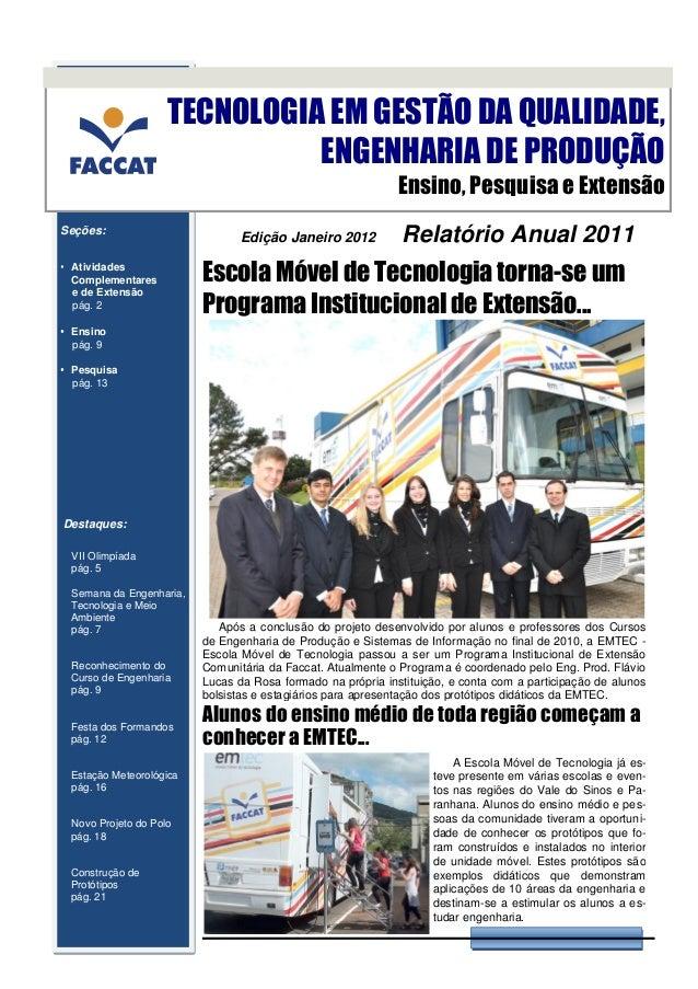 TECNOLOGIA EM GESTÃO DA QUALIDADE,                              ENGENHARIA DE PRODUÇÃO                                    ...