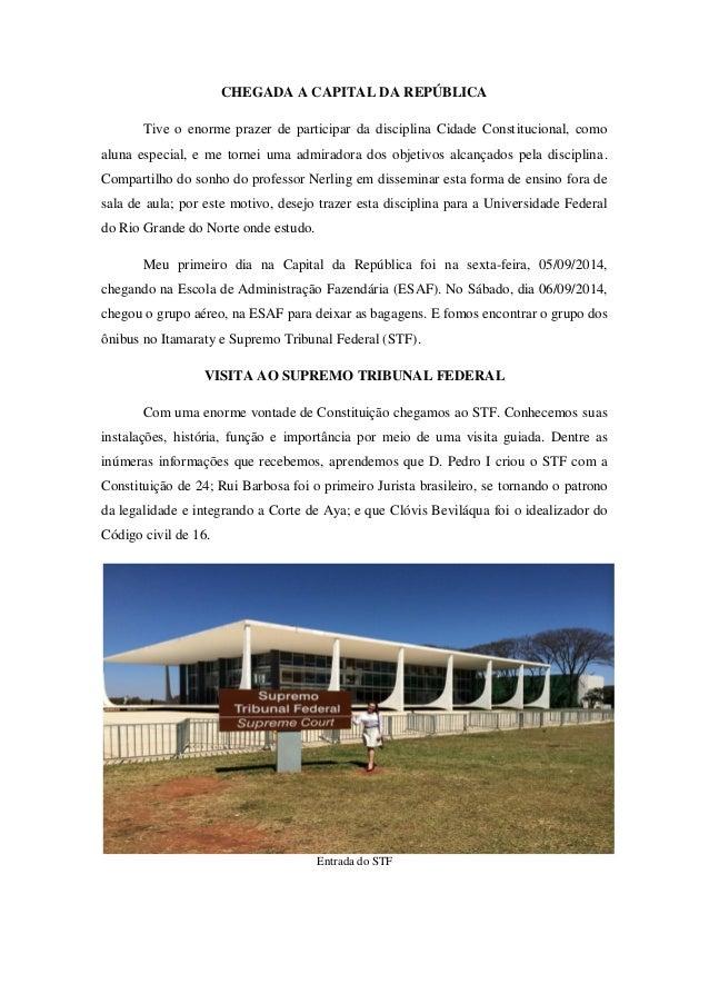 Cidade Constitucional: Relatório de Fernanda de Oliveira Justino Slide 3