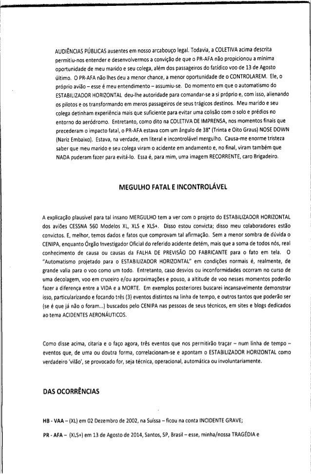 Relatório do comandante camacho ao Cenipa Slide 2