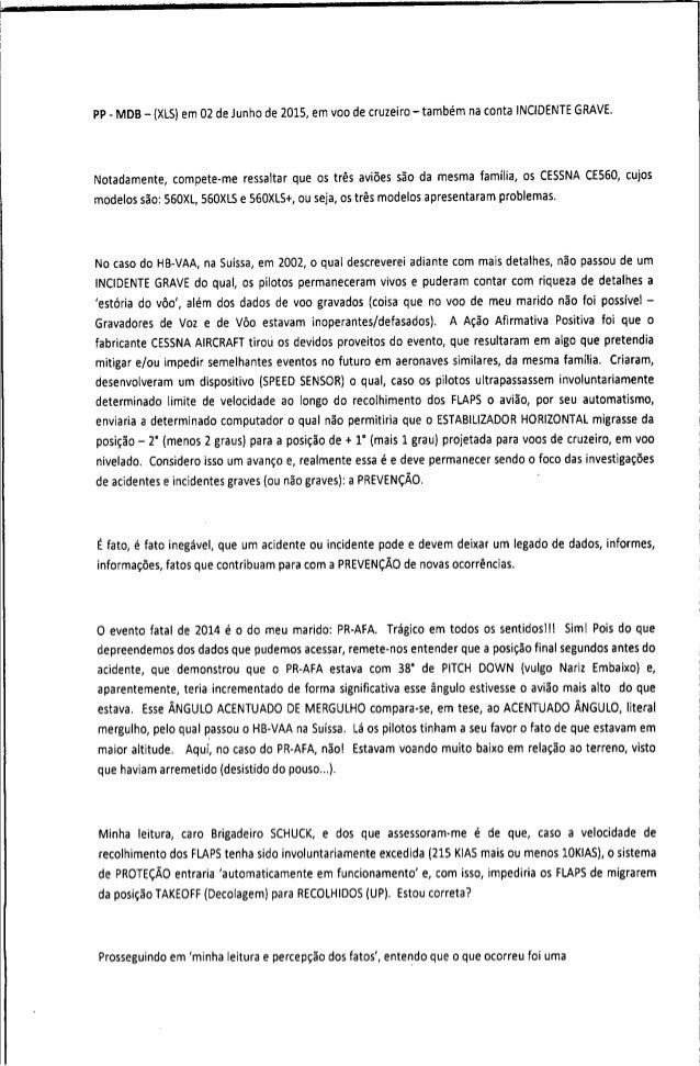 Relatório do comandante camacho ao Cenipa Slide 3