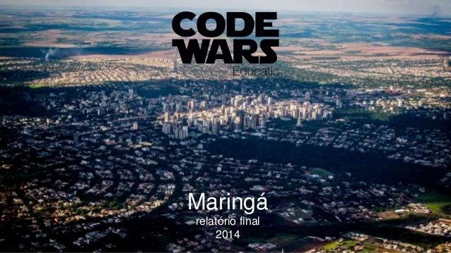 Maringá relatório final 2014