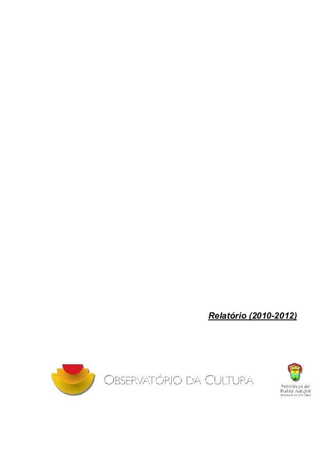 Relatório (2010-2012)