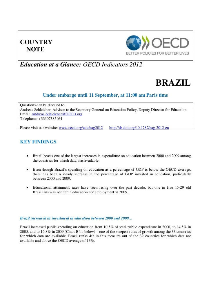 COUNTRY NOTEEducation at a Glance: OECD Indicators 2012                                                                   ...