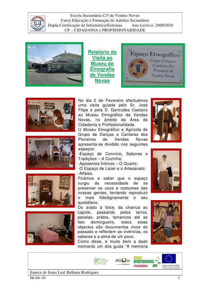 Escola Secundária C/3 de Vendas Novas                 Curso Educação e Formação de Adultos Secundário          Dupla Certi...