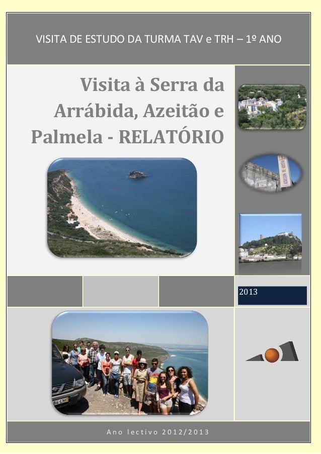 A n o l e c t i v o 2 0 1 2 / 2 0 1 3 2013 Visita à Serra da Arrábida, Azeitão e Palmela - RELATÓRIO VISITA DE ESTUDO DA T...