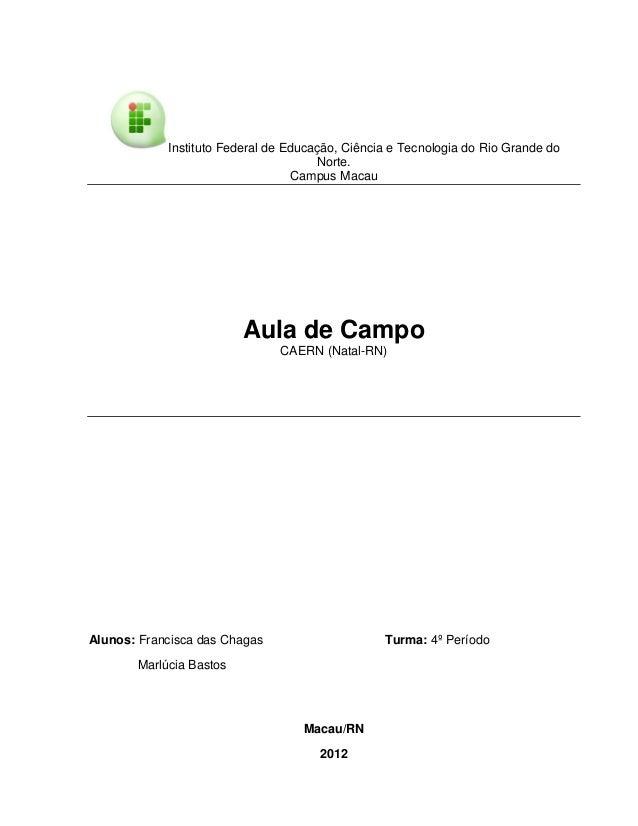 Instituto Federal de Educação, Ciência e Tecnologia do Rio Grande do                                      Norte.          ...