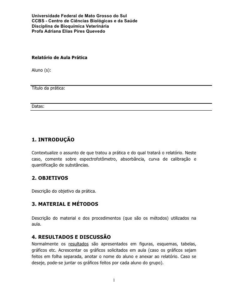 Universidade Federal de Mato Grosso do Sul CCBS - Centro de Ciências Biológicas e da Saúde Disciplina de Bioquímica Veteri...