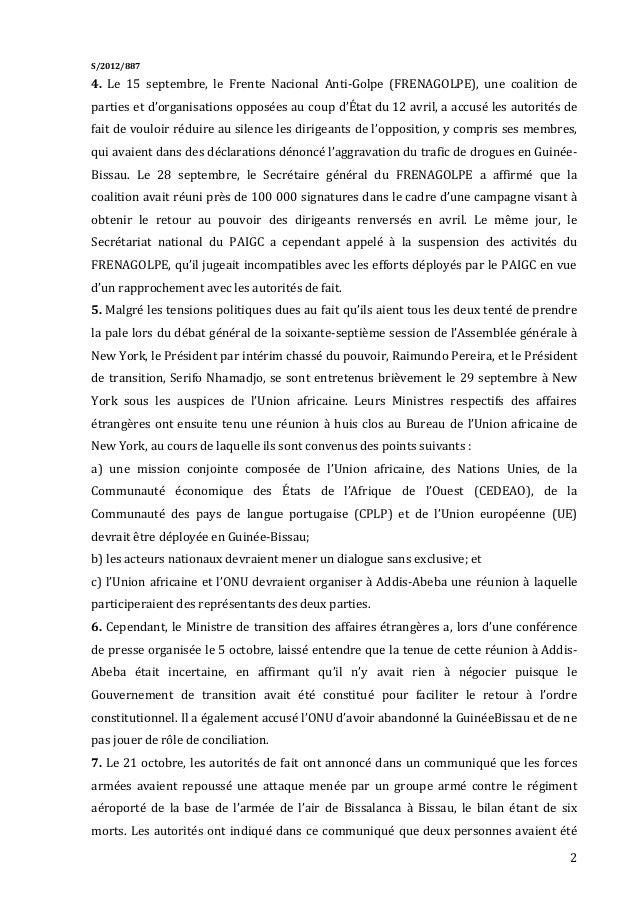 Relatório de ban ki moon sobre a guiné-bissau Slide 2