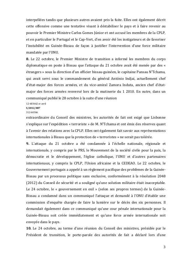 Relatório de ban ki moon sobre a guiné-bissau Slide 3