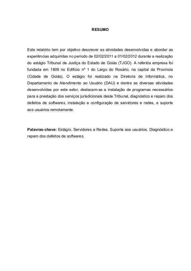 Como fazer conclusão de relatorio de estagio