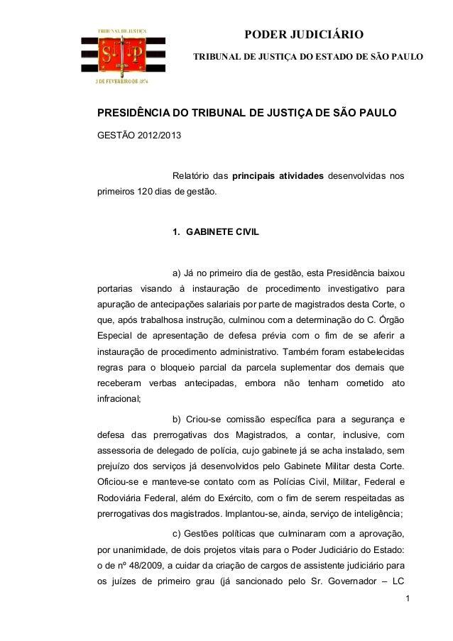PODER JUDICIÁRIO                       TRIBUNAL DE JUSTIÇA DO ESTADO DE SÃO PAULOPRESIDÊNCIA DO TRIBUNAL DE JUSTIÇA DE SÃO...