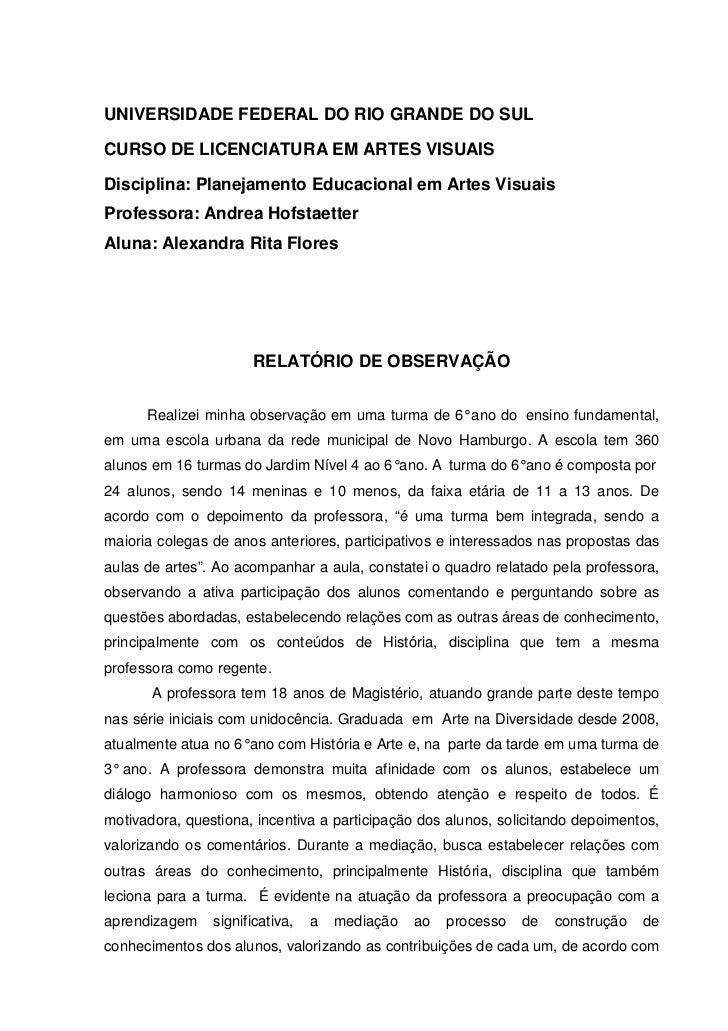 Modelo de relatorio simples