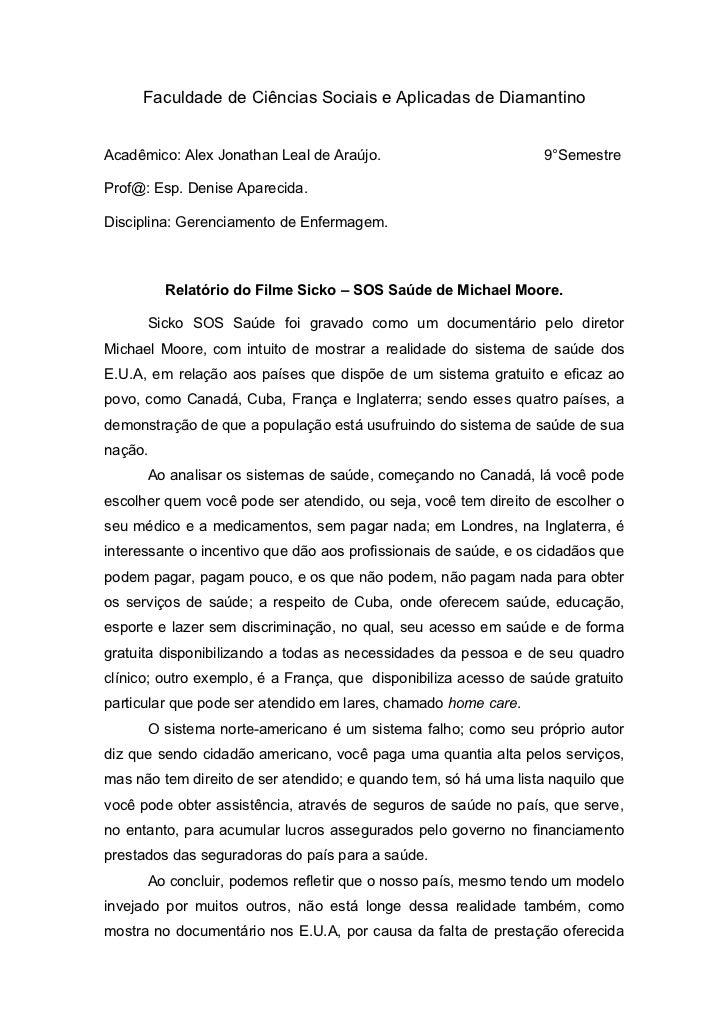 Faculdade de Ciências Sociais e Aplicadas de DiamantinoAcadêmico: Alex Jonathan Leal de Araújo.                          9...