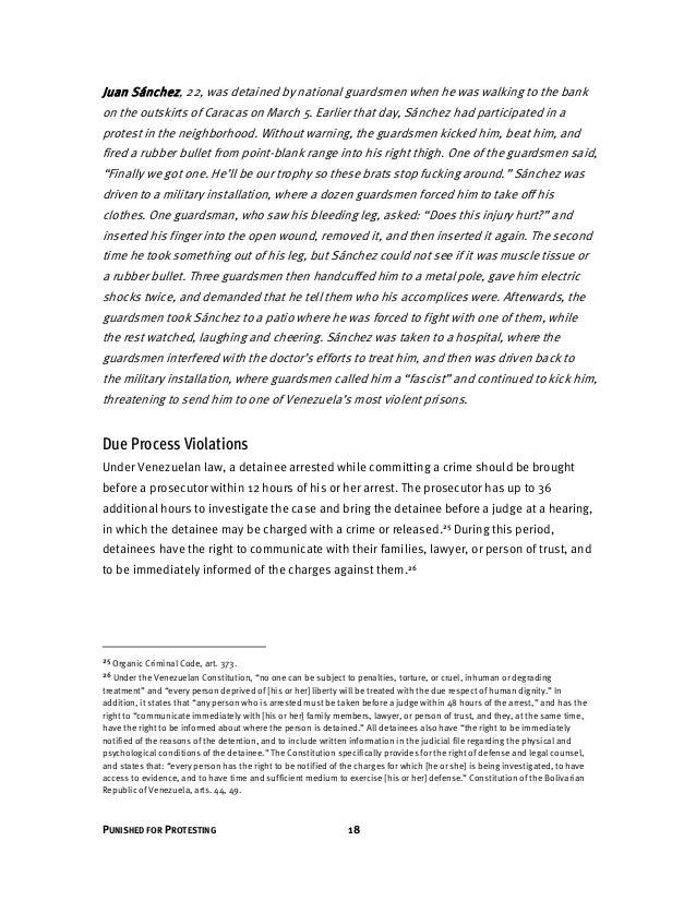 19 HUMAN RIGHTS WATCH | MAY 2014 Human Rights Watch found that these fundamental due process guarantees were violated in t...