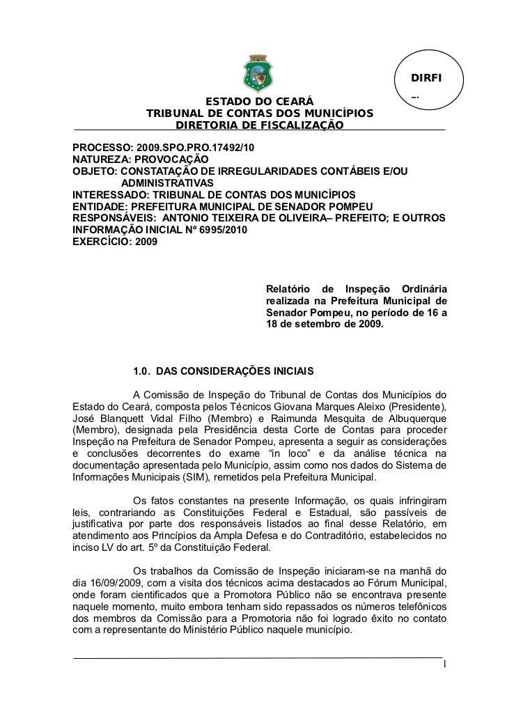 DIRFI                        ESTADO DO CEARÁ                                Fl.               TRIBUNAL DE CONTAS DOS MUNIC...