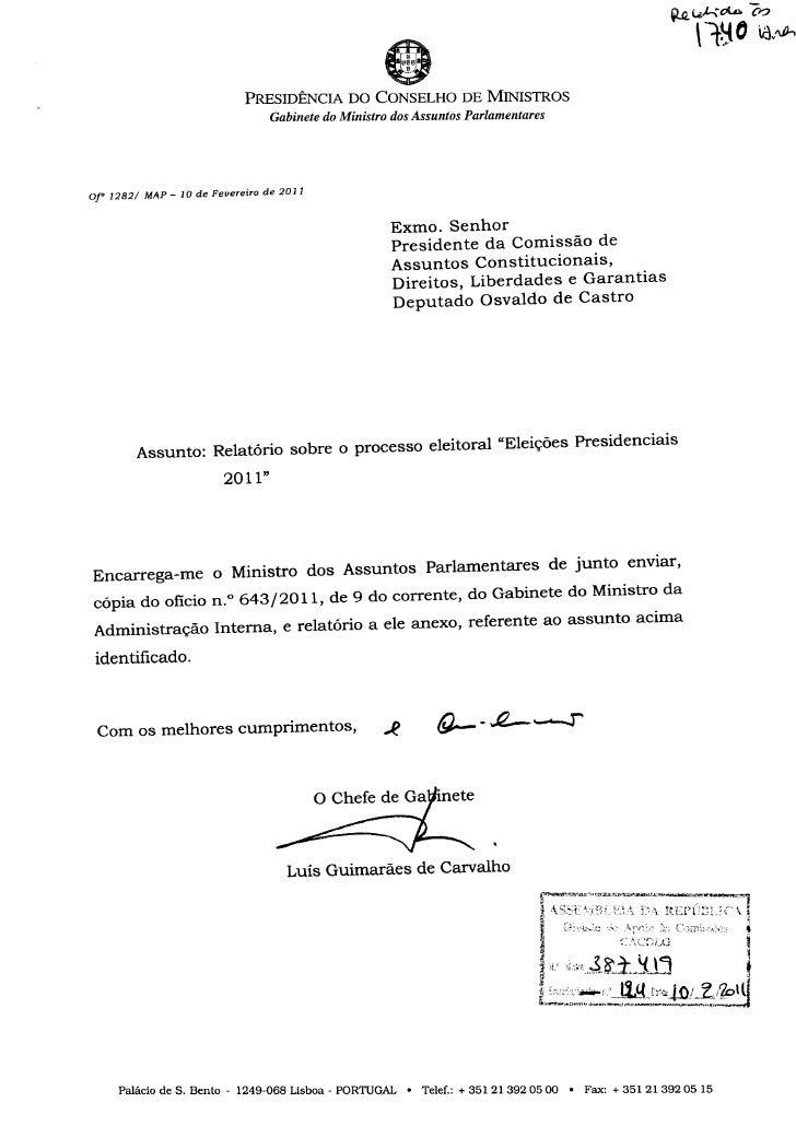 Relatório Presidenciais 2011